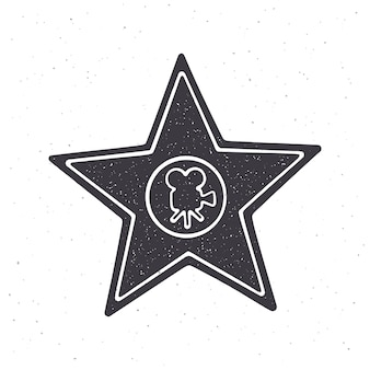 Silhouette du monument du prix en forme d'étoile illustration vectorielle symbole du gagnant