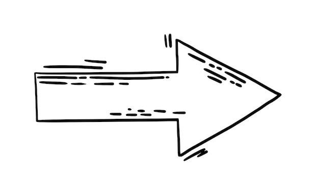 Silhouette de flèche volante vecteur gribouillis à grande vitesse