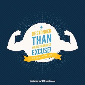Silhouette de fond avec une phrase de motivation de la formation