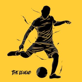 Silhouette de football soccer splash