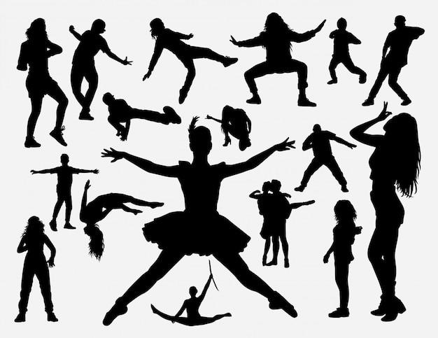 Silhouette de formation de danse