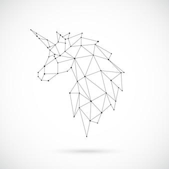 Silhouette géométrique licorne