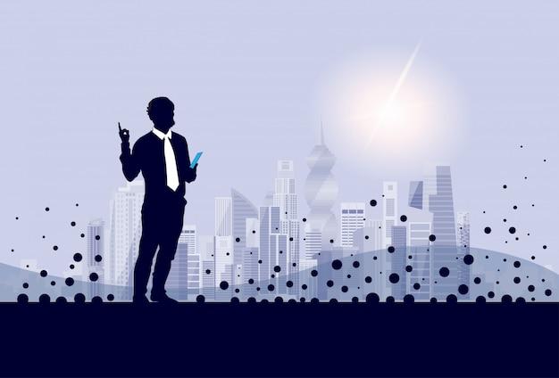 Silhouette homme d'affaires