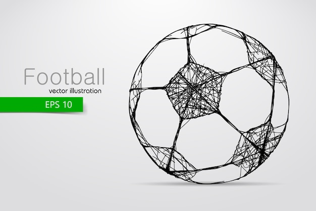 Silhouette d'une illustration de ballon de football