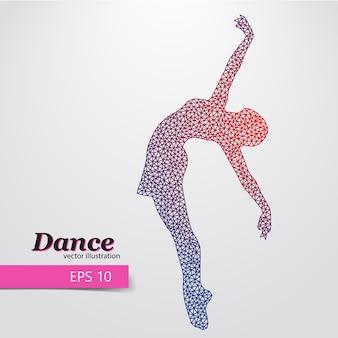 Silhouette d'une illustration de la danseuse