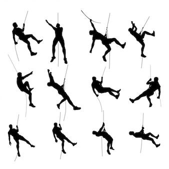Silhouette de jeu de grimpeur