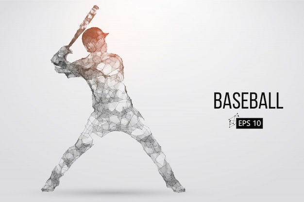 Silhouette d'un joueur de baseball. illustration vectorielle