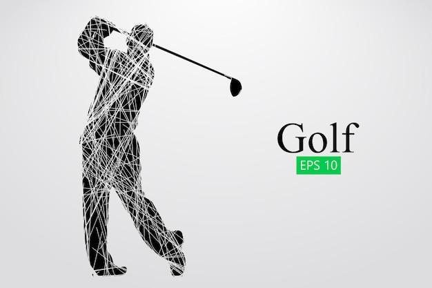Silhouette d'un joueur de golf