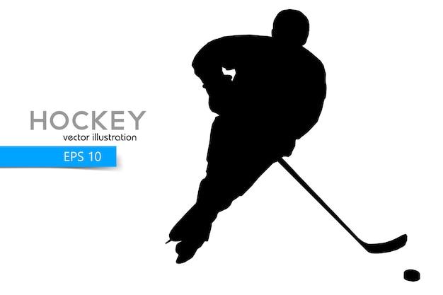 Silhouette d'un joueur de hockey