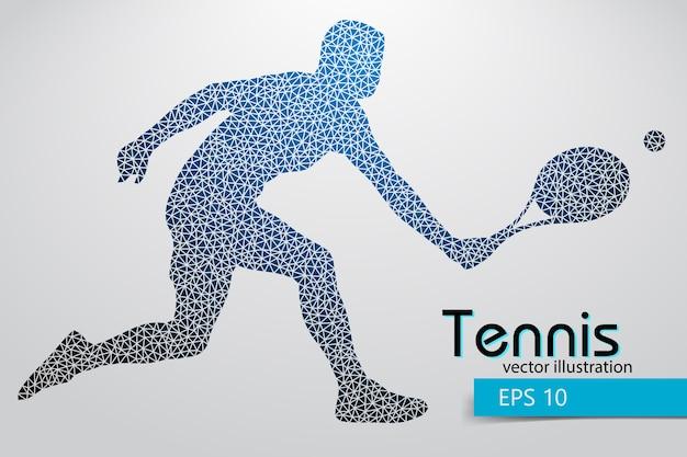 Silhouette d'un joueur de tennis