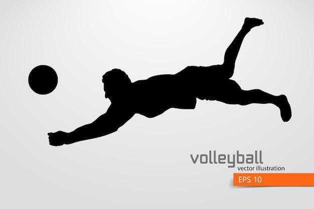 Silhouette de joueur de volley-ball, homme