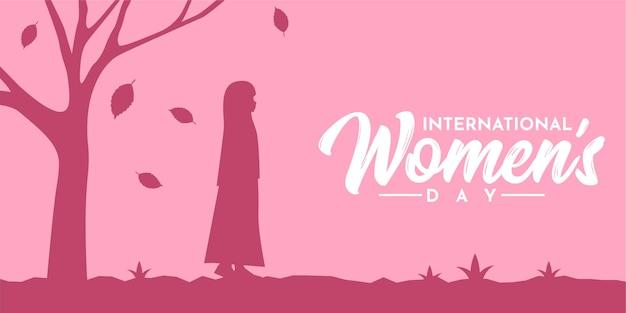 Silhouette de la journée internationale de la femme heureuse