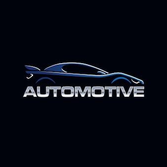 Silhouette de logo de mascotte de voiture automobile