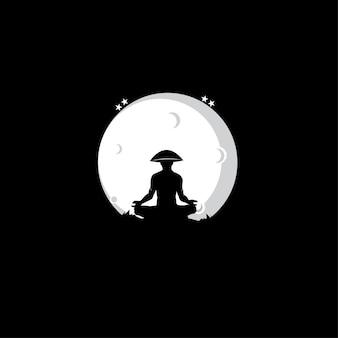 Silhouette de méditation.