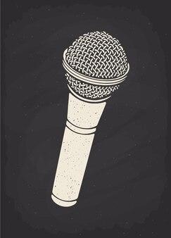 Silhouette de microphone moderne pour le son de la musique vocale parle enregistrement radio illustration vectorielle