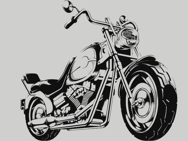 Silhouette de moto vintage