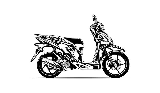 Silhouette de moto