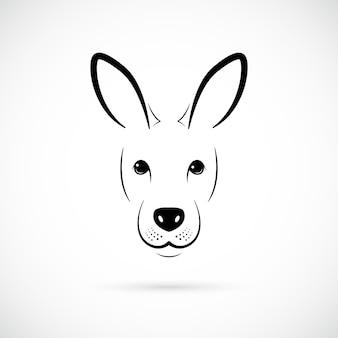 Silhouette de museau de kangourou