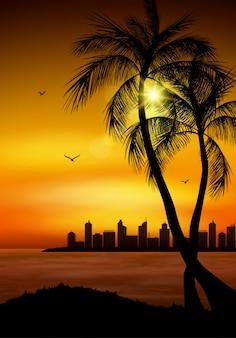 Silhouette de palmier