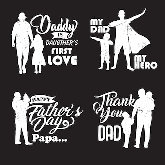 Silhouette père et enfant