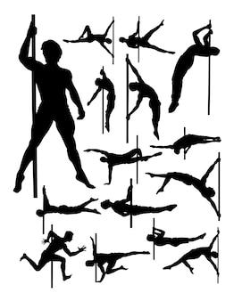 Silhouette de pole dance masculine