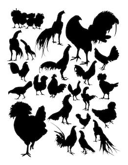 Silhouette de poulet