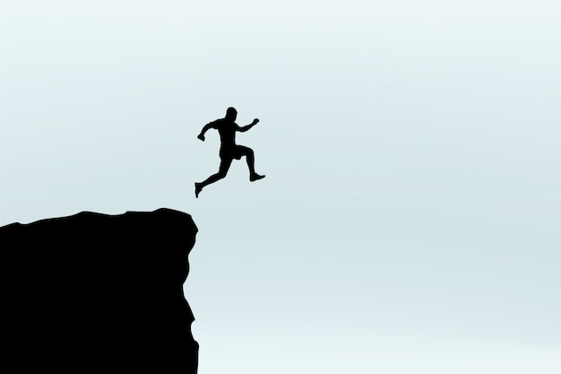 Silhouette de saut homme