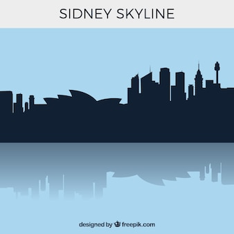 Silhouette sidney skyline fond