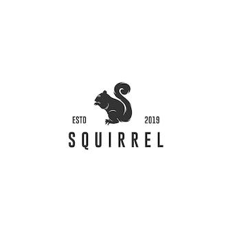 Silhouette silhouette d'écureuil