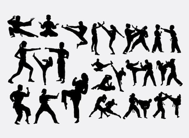 Silhouette de sport de combat
