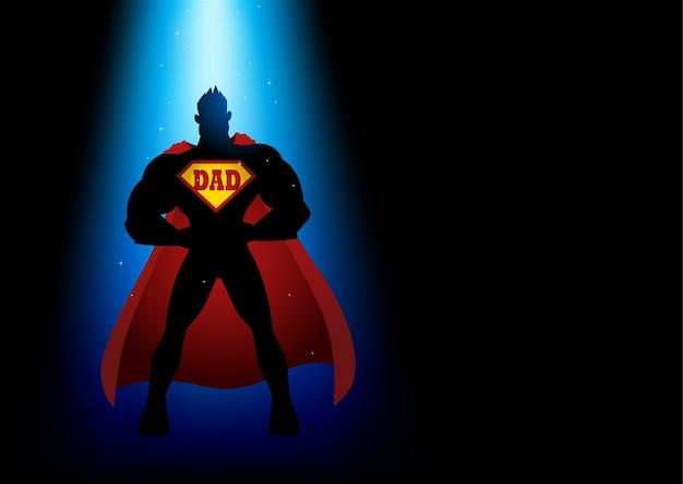 Silhouette de super papa