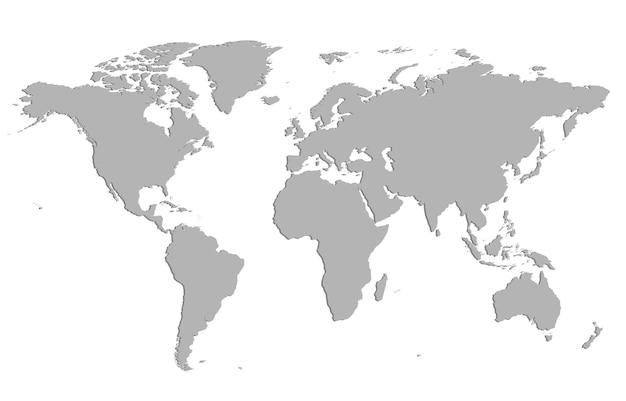 Silhouette vecteur de la carte du monde