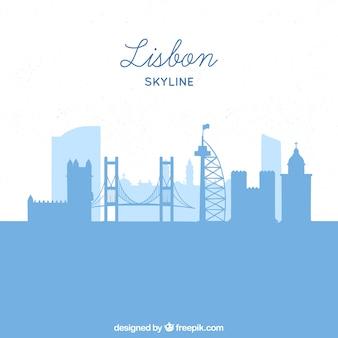 Silhouette de la ville de lisbonne