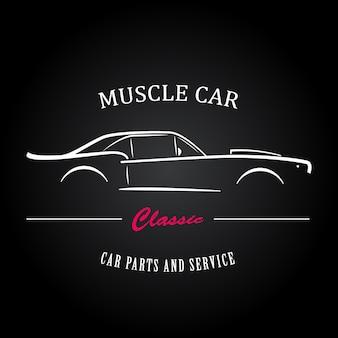 Silhouette de voiture de muscle
