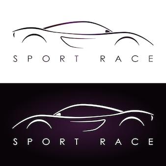 Silhouette de voiture de sport.