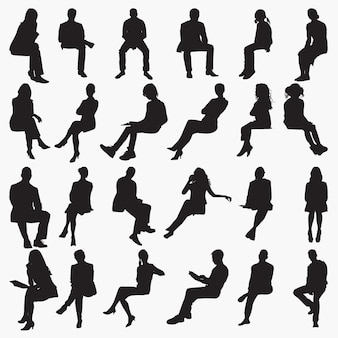 Silhouettes assises