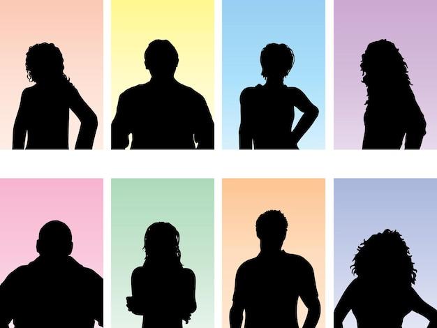 Silhouettes d'avatar