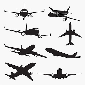 Silhouettes d'avion