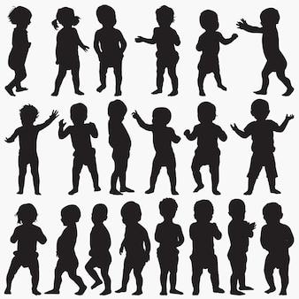 Silhouettes de bébé