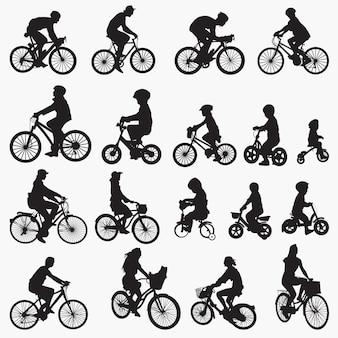 Silhouettes de bicyclettes