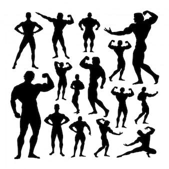 Silhouettes de bodybuilder