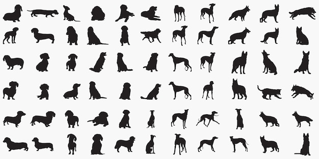 Silhouettes de chiens