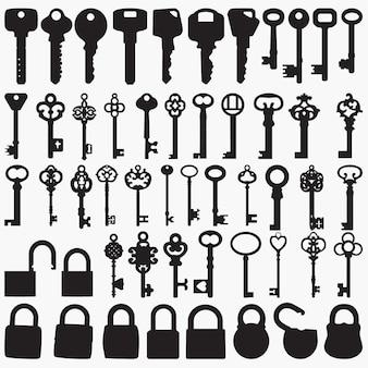 Silhouettes de clés