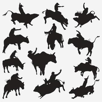 Silhouettes de cow-boy