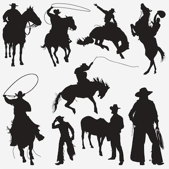 Silhouettes de cow-boy