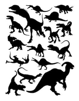 Silhouettes de dinosaures.