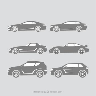 Silhouettes décoratives de grandes voitures