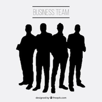 Silhouettes de l'équipe d'affaires