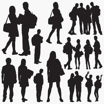 Silhouettes d'étudiants