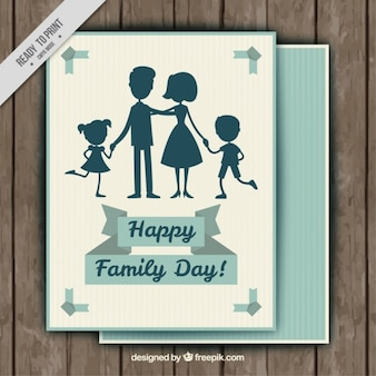 Silhouettes familiales voeux